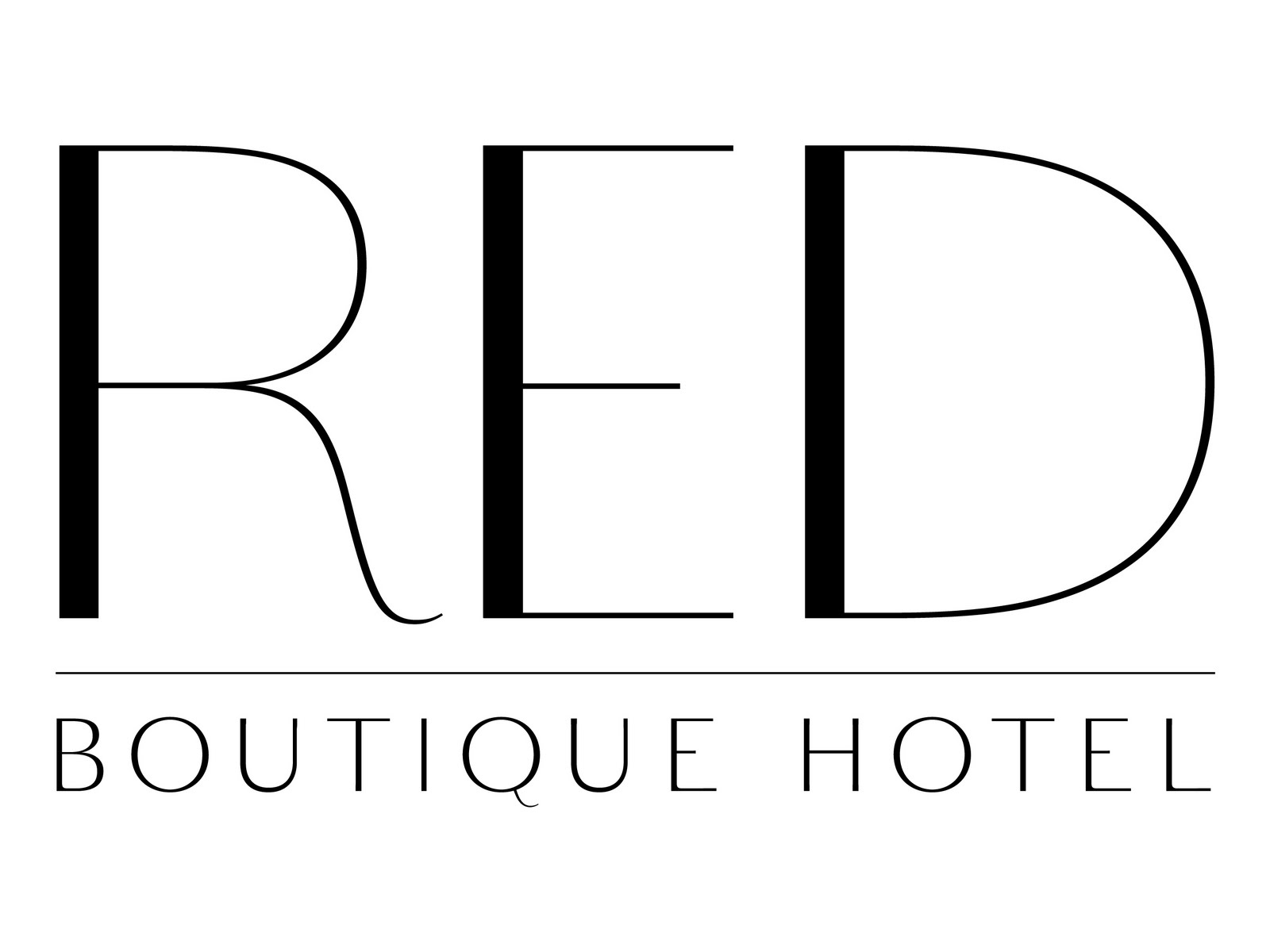 C designz red boutique hotel logo website for Boutique hotel logo