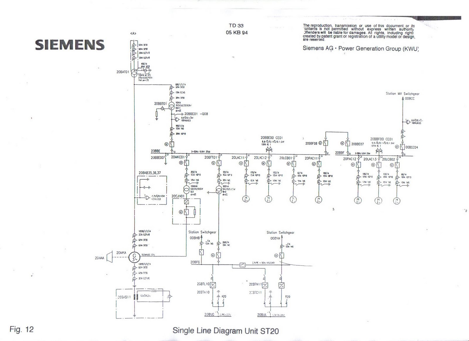 Dmies Industrial GT And ST Single Line Diagram - Electrical Line Diagram