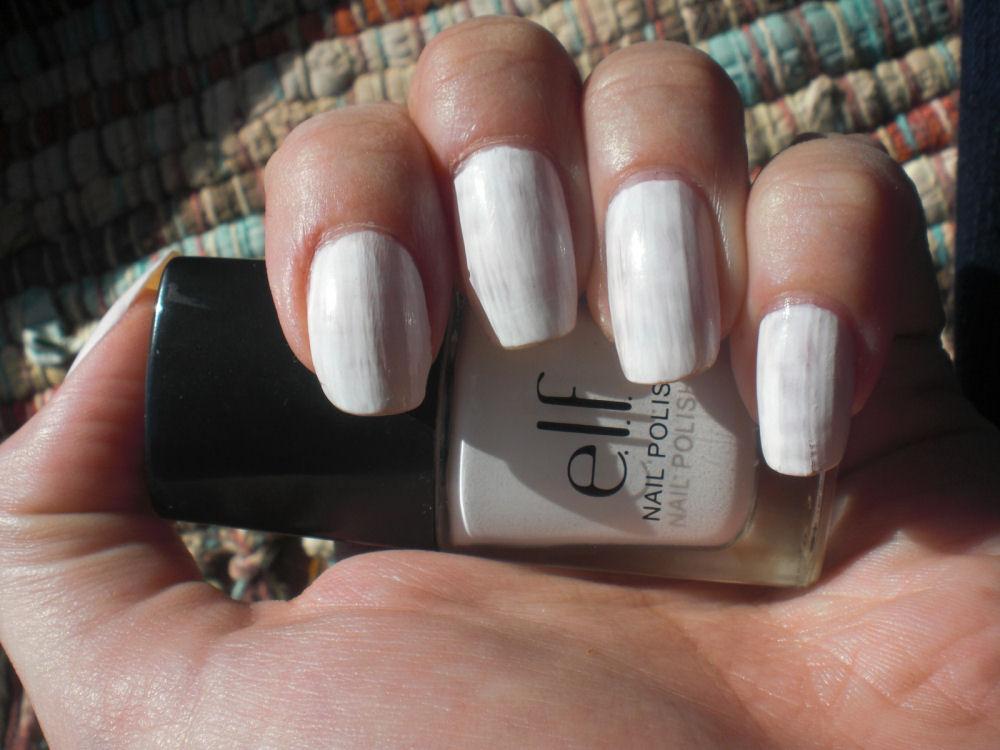 Concrete and Nail Polish: E.L.F. White (Worst Polish I\'ve Ever Tried)