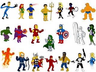 Superhéroes al estilo de Matt Groening Springfieldpunx