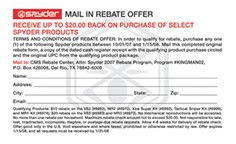 2007 Spyder Rebate Program