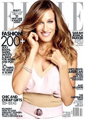 Sarah Jessica Parker on Elle Magazine Covers December 2009