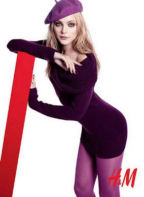 Jessica Stam on H&M Fall Winter photo