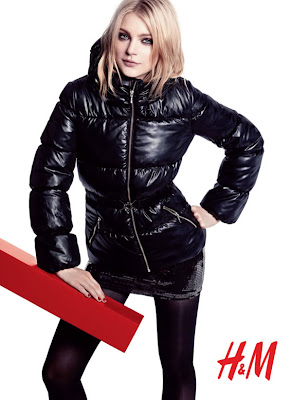 Jessica Stam on H&M Fall Winter shoot