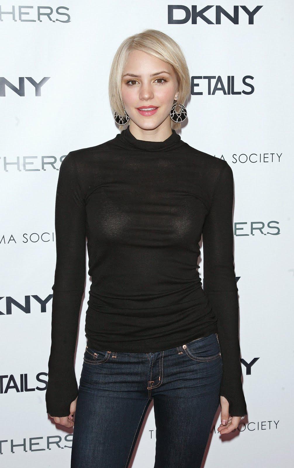 Ruck Celebrity: Katharine McPhee Sexy Blonde in Black