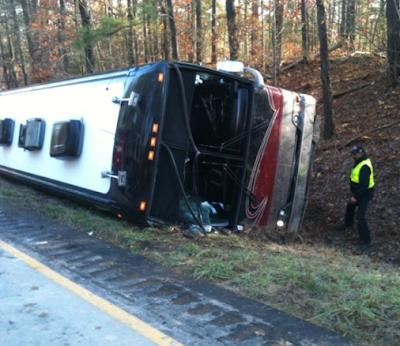 Miley Cyrus Tour Bus Crash in Caravan