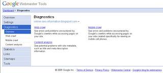 Webmaster Tools Google Webmaster Tool
