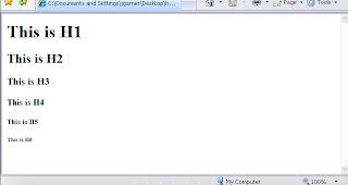 HTML Heading Tag