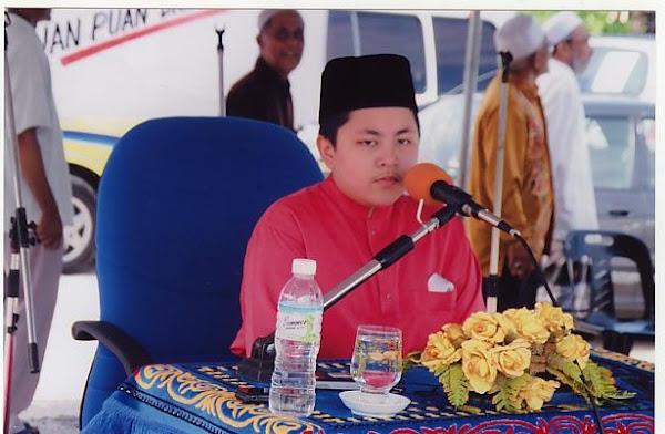 Adik Muhammad Membaca Al-Qur'an di Al-Barakah, Manjoi.