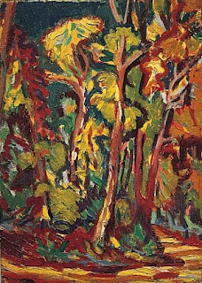 Trees in Autumn by Ernst Ludwig Kirchner, 1906