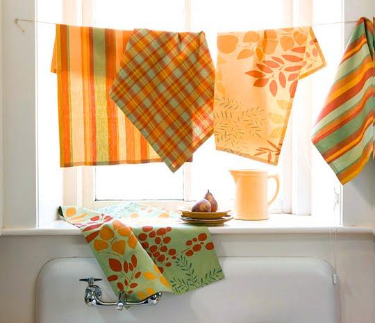 Tea Towel Kitchen Curtains: Scrimpalicious: Cooking, Keeping, Making, Saving: Five