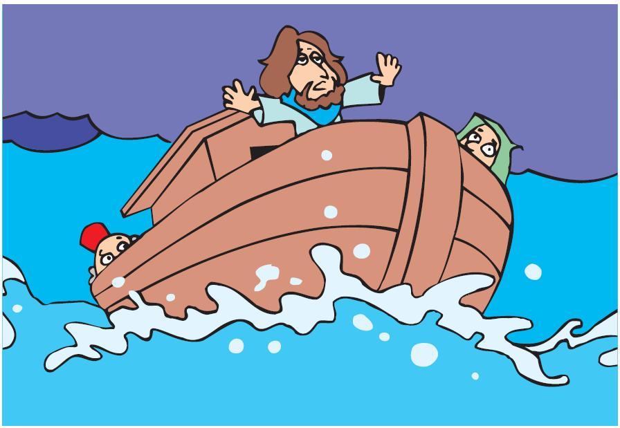 imagens para colorir jesus acalma a tempestade - Milagre da tempestade no mar Desenhos para colorir