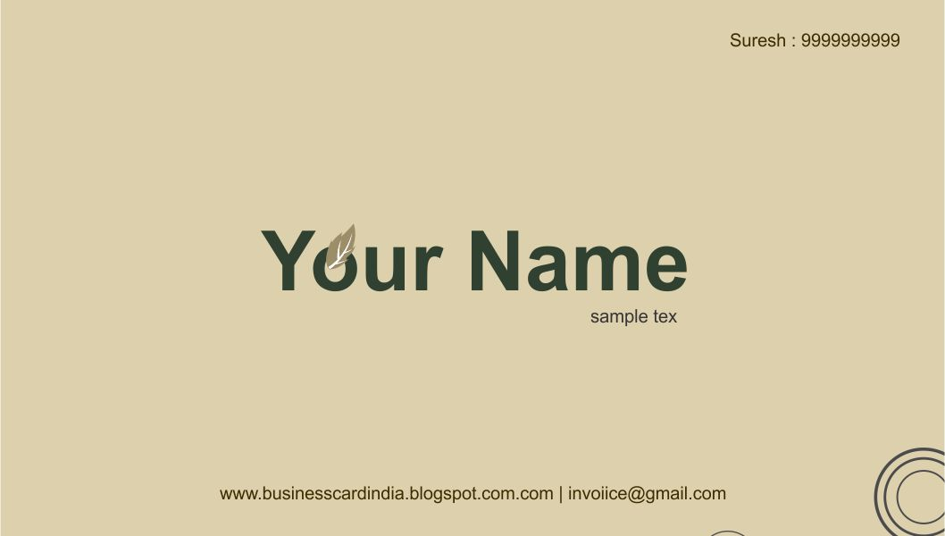 Free business card design templates wajeb Image collections