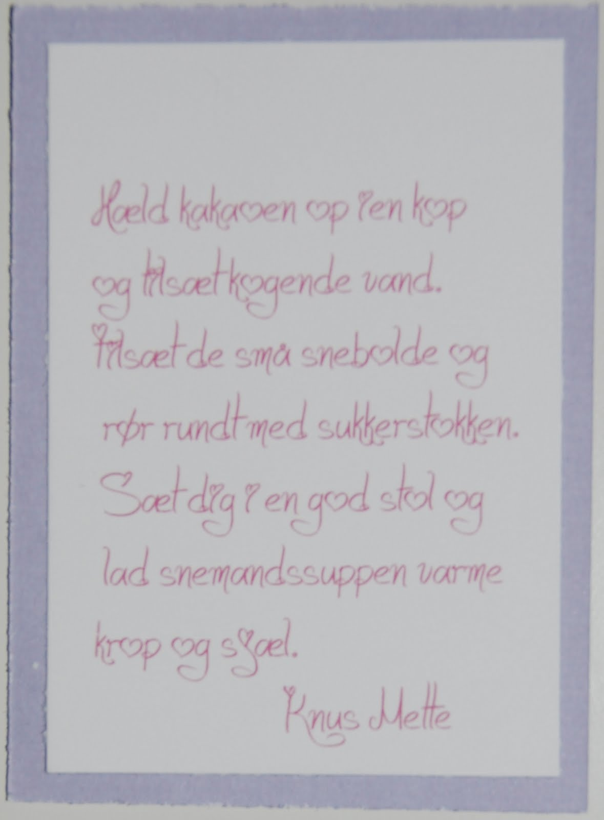 tekst på dåbskort