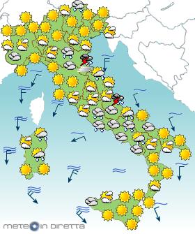 Apri la PAGINA delle PREVISIONI METEO ITALIA per i prossimi 3 Giorni