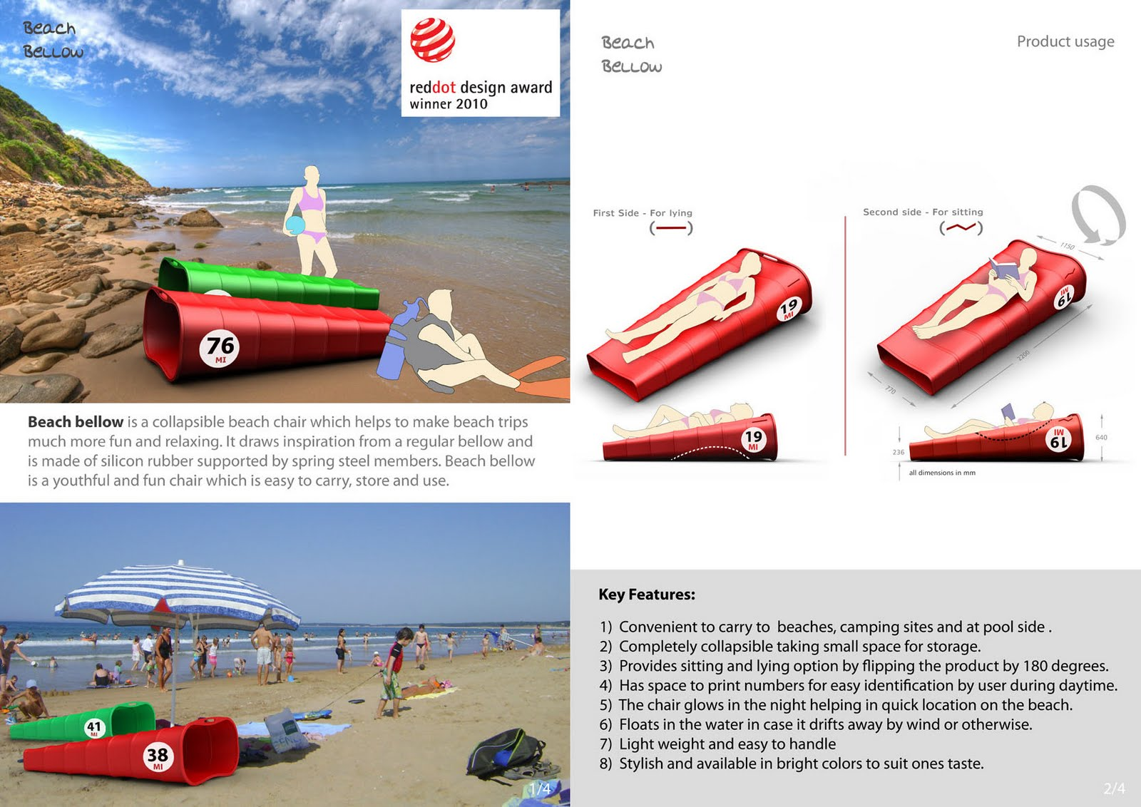 "EPICENTER DESIGN ""Beach Bellow"" wins the Red dot concept award 2010"