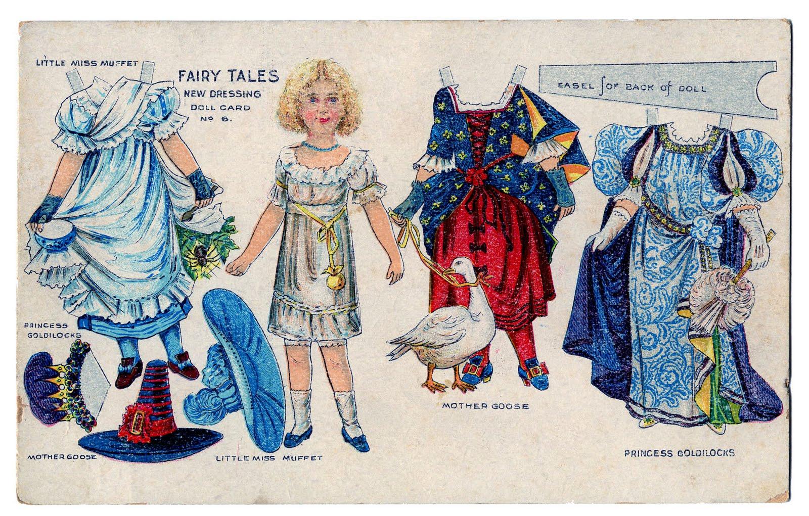Little Miss Muffett Paper Doll