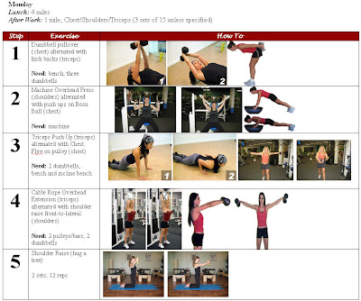 chest shoulders and triceps workout