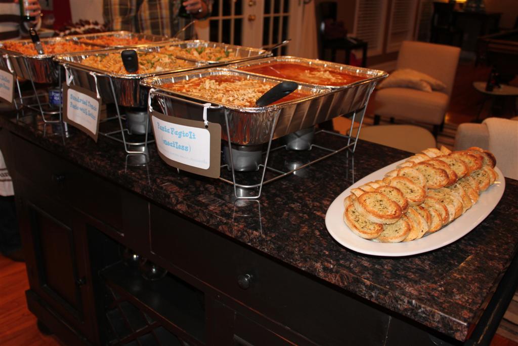 Kellys Healthified Kitchen Pasta Bar Menu For 30