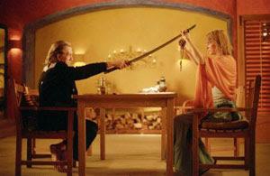 David Carradine y Uma Thurman en Kill Bill: Vol. 2