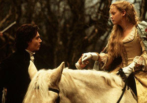 Johnny Depp y Christina Ricci en Sleepy Hollow