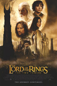Cartel original de El Señor de los Anillos: Las Dos Torres