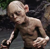 Gollum (Andy Serkis) en El Señor de los Anillos: Las Dos Torres