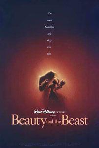 Cartel original de La bella y la bestia