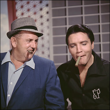 Elvis Presley and Colonel Tom Parker