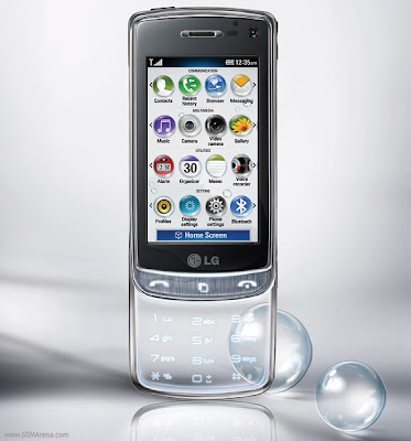 LG GD900 crystal 3G phone  transparent touch sensitive keypad and it looks great