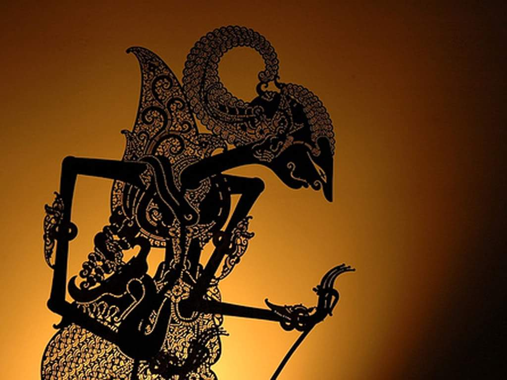 Indonesian Wayang Kulit Shadow Puppet
