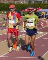 Jord Aubeso (Sots-campió del Món de 100 km ruta el 2005 i 6 cops campió d'Espanya de 100km ruta) i Paris Canals