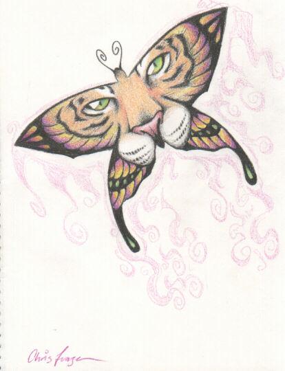 tiger butterfly tattoo. world-wildlife-adventures, tiger butterfly tattoo
