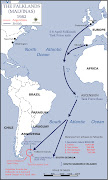 Guerra de las Malvinas: Mapa de distancia do conflito falklands campaign distances to bases