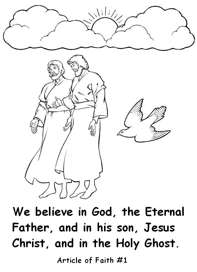 article of faith coloring pages - photo#28