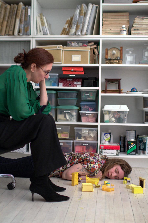 TinyFurniture2 Rebecca&Nicholas nasty nylon feet video