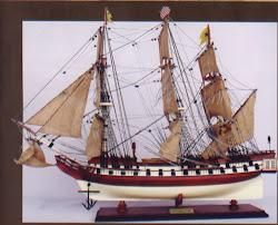 船のジオラマ