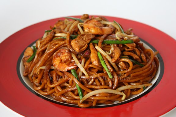 My kitchen snippets mee goreng fried noodles
