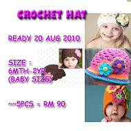 NEW 5 DESIGN CROCHET HAT