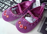 Adam -Purple EMBROIDRY FLOWER 0-3m, 3-6m, 6-9m, 9-12m,12-18M (5PAIR X RM 20= RM 100)