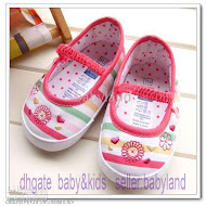 Mothercare (12.5cm &amp; 13.5CM)-EMBROIDRY PINK STRIPE (2 pair x RM 40)