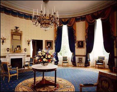 Salon et salle de musique  White+House+blue+room+empire