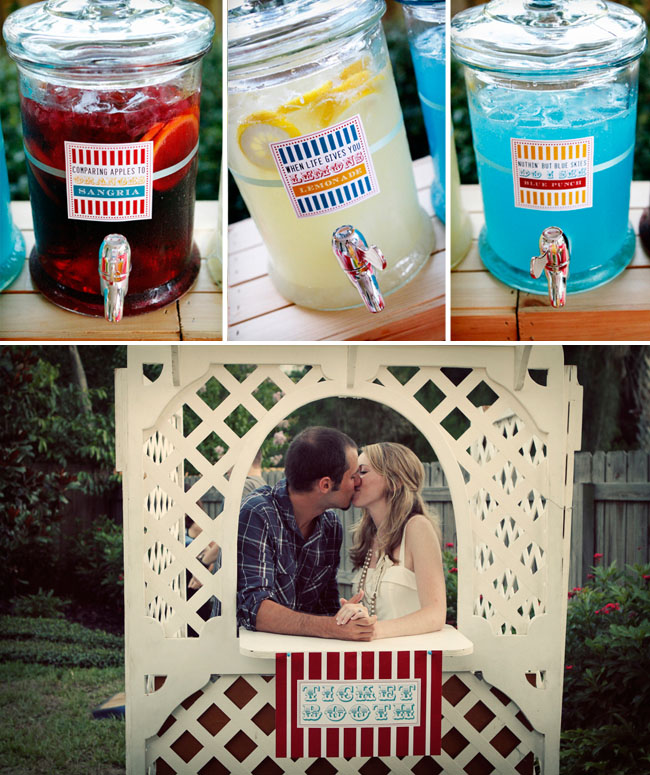 Engagement Party Ideas: The Life And Love Of A London Couple: Cute Carnival Themed