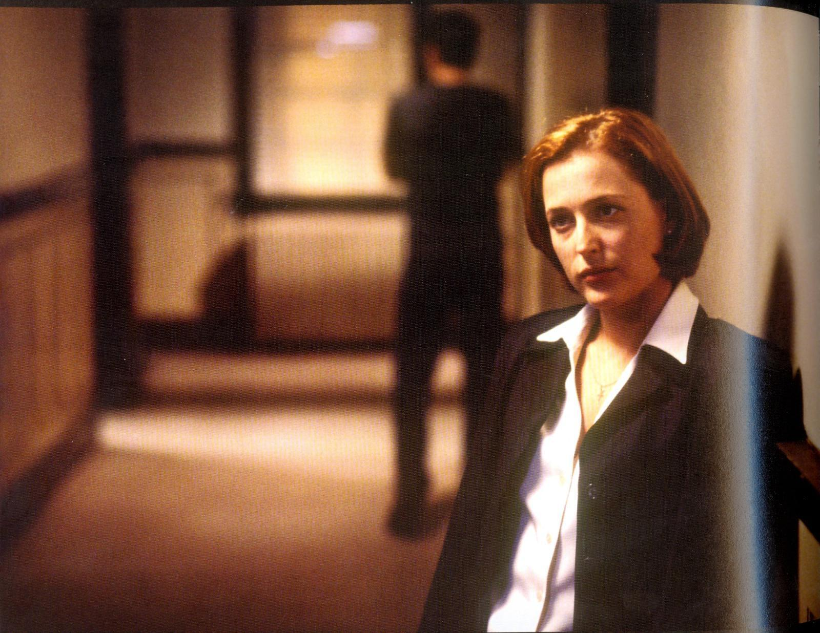 Scully the x files in a Japanese bath house