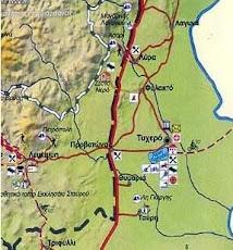 χάρτης Δήμου Τυχερού