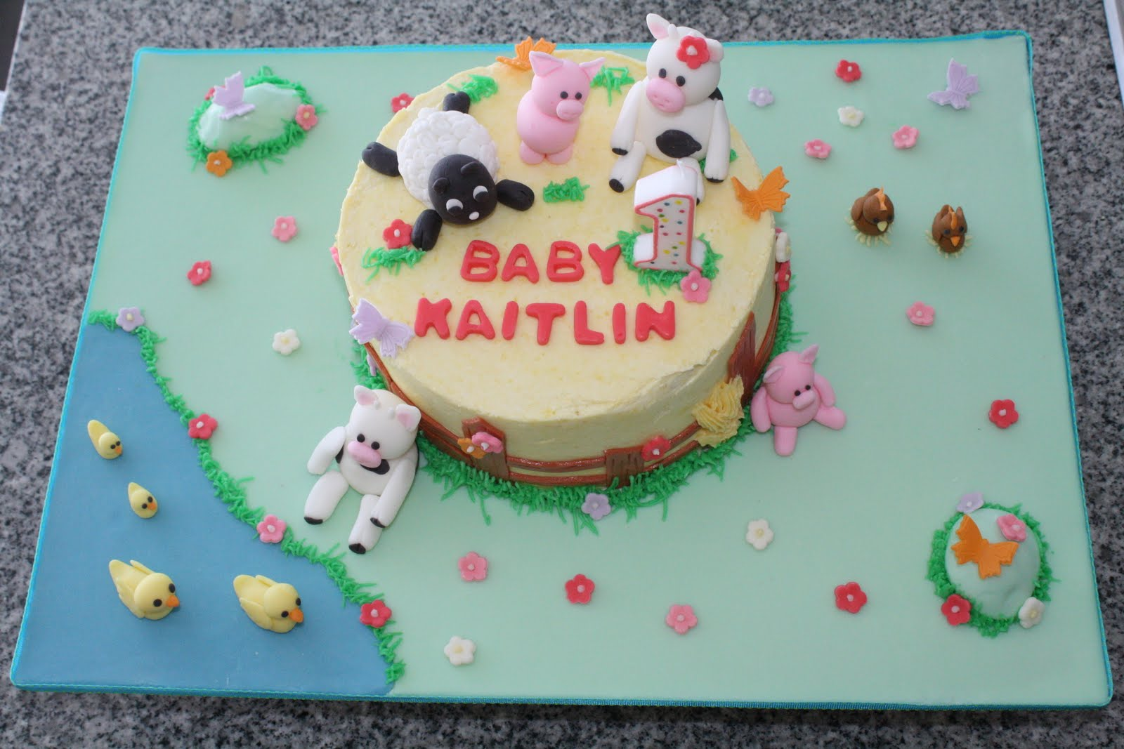 Homemade Creations Kaitlins First Birthday Cake