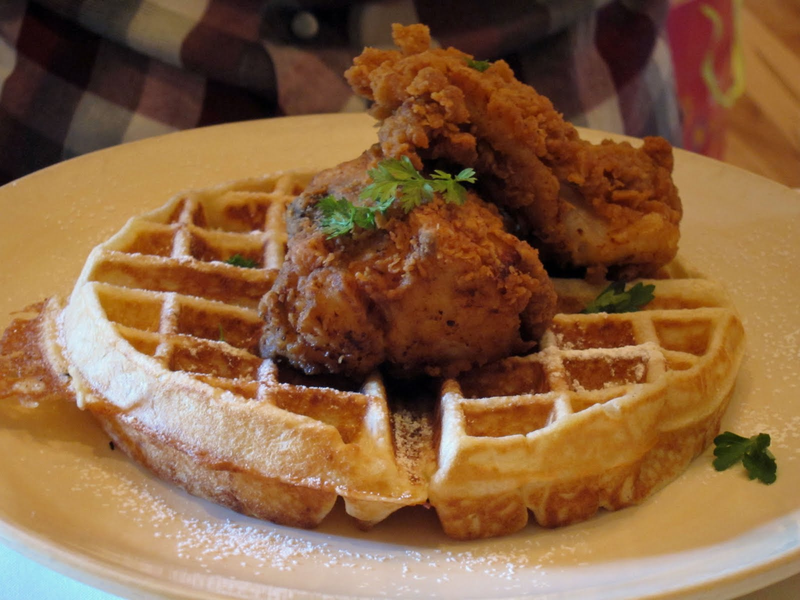 Near north chicago staycation guide chicken and waffles for Table 52 menu chicago