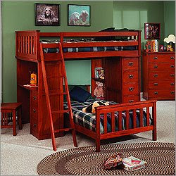 ����� ������ �������� ������ ���� Tradewins-Mission-Youth-Loft-Bed-Bedroom-Set~img~TWN~TWN1051_m.jpg