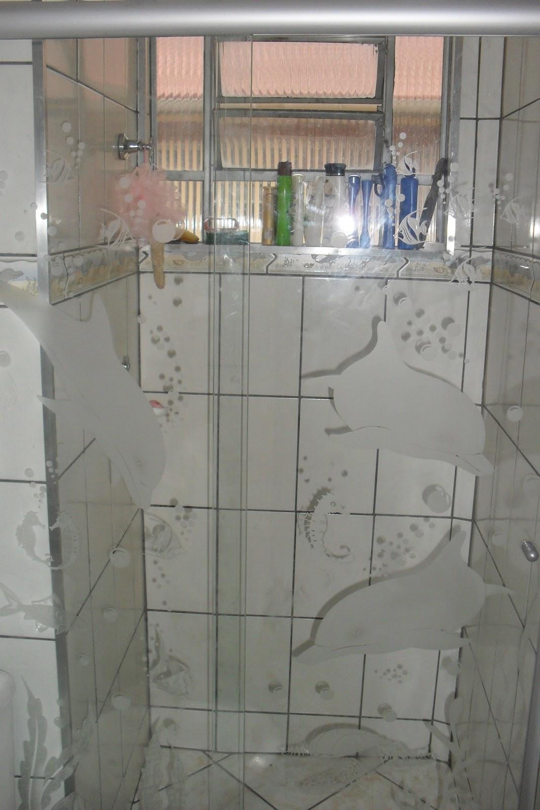Adesivos Para Vidros Box Vidro Personalizados Tattoos #815E4A 1067x1600 Adesivo Blindex Banheiro
