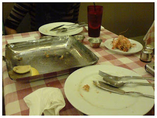 Seafood Platter.. all cleared! 'L' for Lahap.